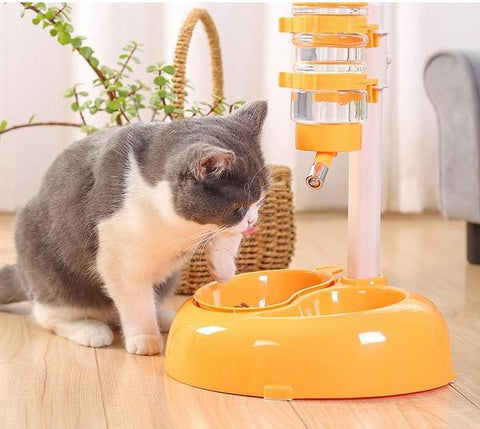 Advanced Drinking Rotatable Food Bowl For Cats And Dogs