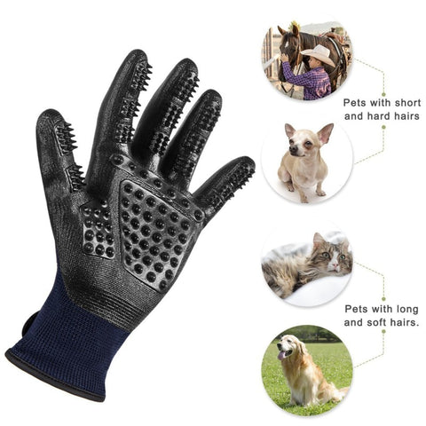 Pet Grooming Deshedding Massaging Brush Glove For Dogs and Cats