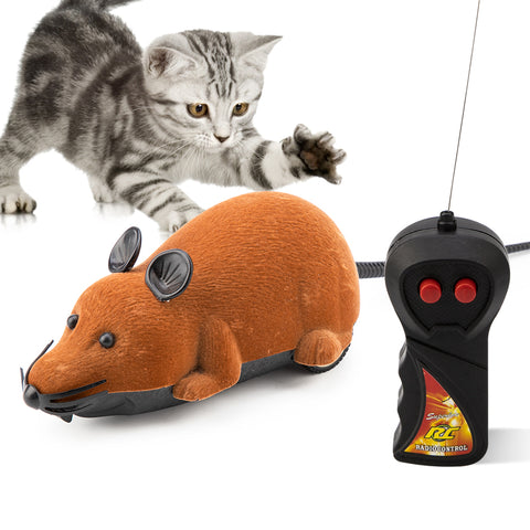 Wireless Mouse Playing Toy for Cats RC Remote Control False Mouse