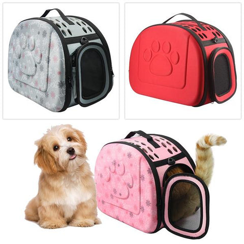 Pet portable foldable travel carrier bag for cats and dogs with strap shoulder sizes S/M/L