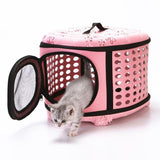 Portable Foldable Travel Carrier Bag For Cats And Dogs With Strap Shoulder