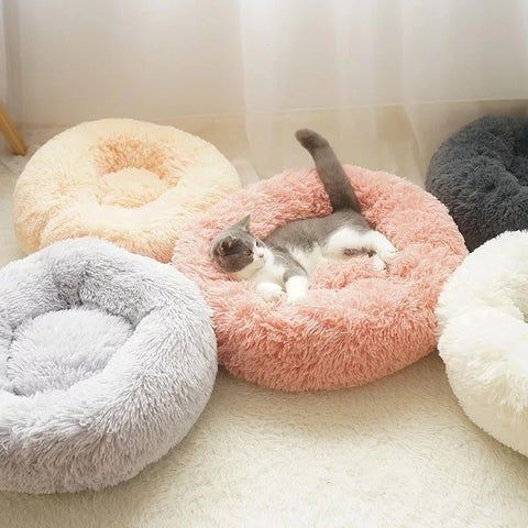 Deluxe Soft Fleece Sleeping Cushion Bed for Small Dogs and Cats