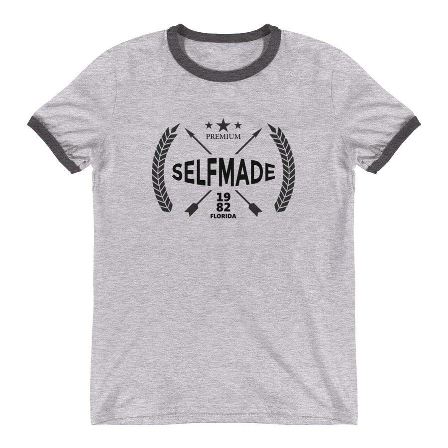 Self Made Premium Debut 1982 Ringer T-Shirt - Grind State University