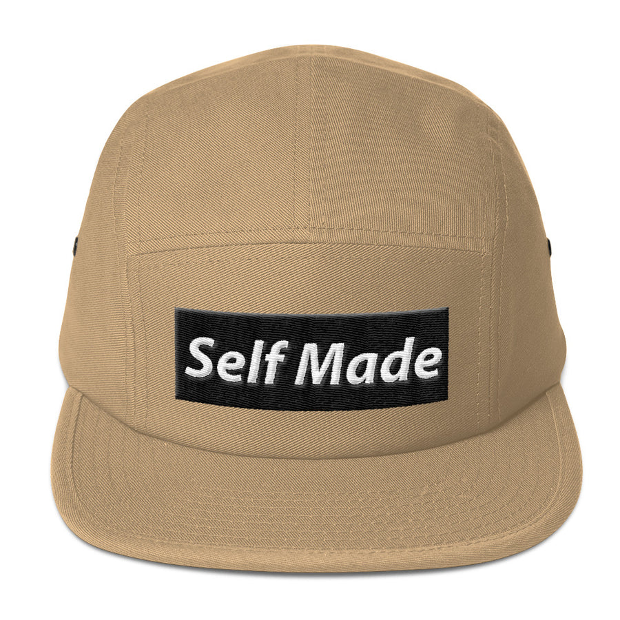 Self Made Vol 1. Black Five Panel Cap - Grind State University