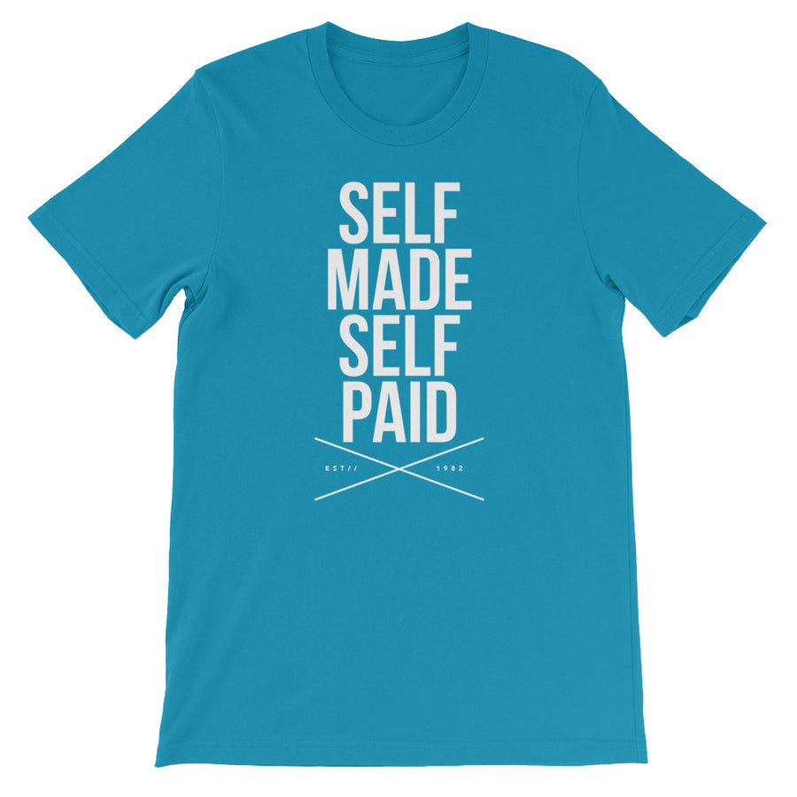 Self Made Self Paid Short-Sleeve Unisex T-Shirt - Grind State University