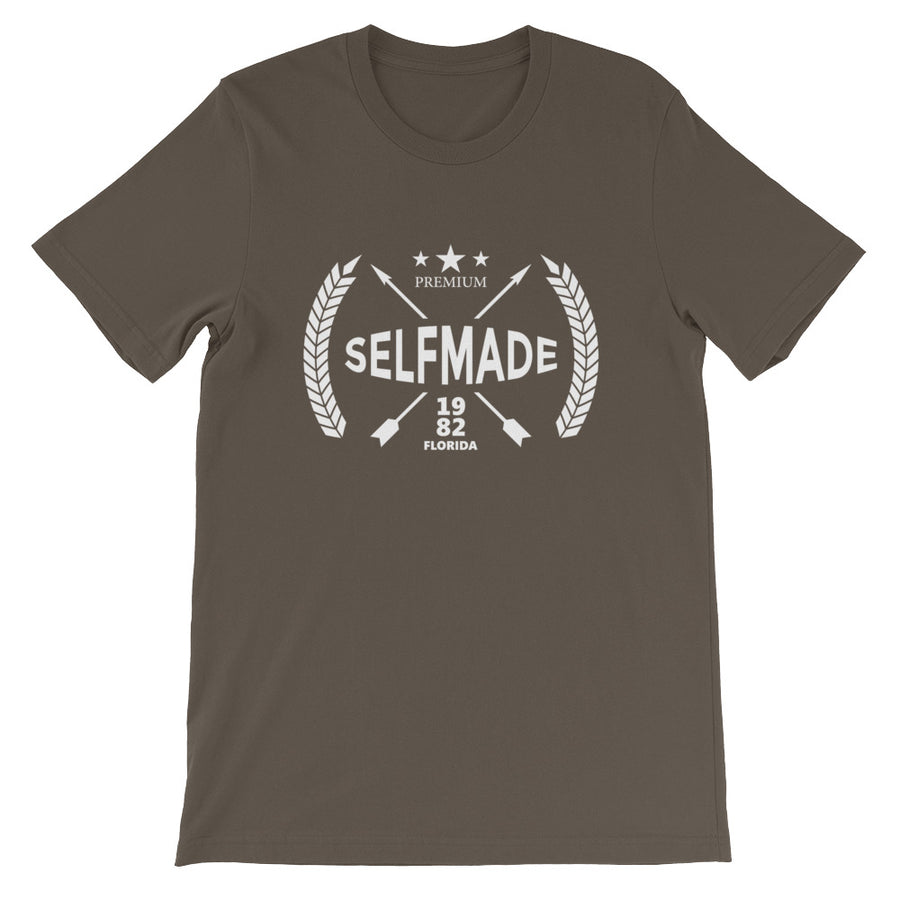 Self Made Premium Debut 1982 Short-Sleeve Unisex T-Shirt - Grind State University