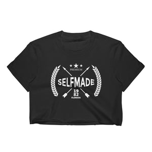 Self Made Premium Debut 1982 Women's Crop Top - Grind State University