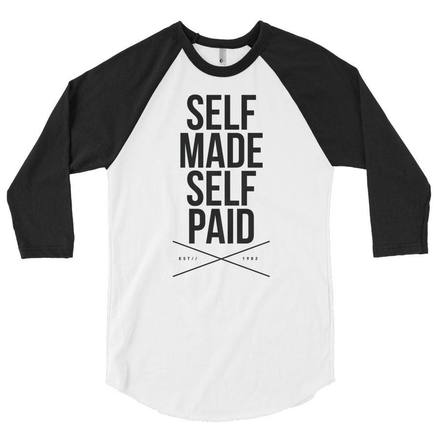 Self Made Self Paid . 3/4 sleeve raglan shirt - Grind State University