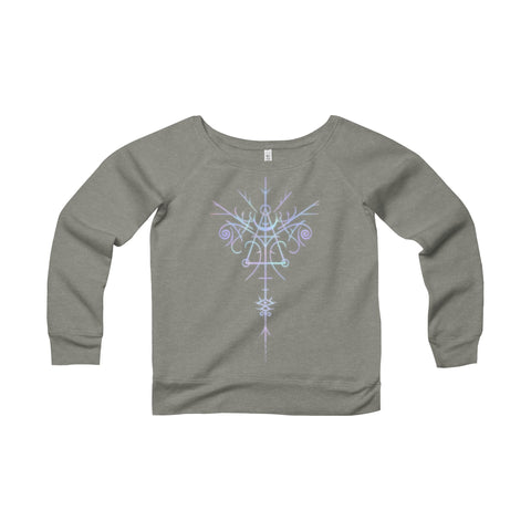 Sigil of Inspiration Wide Neck Sweatshirt Printify - Natural Lynx