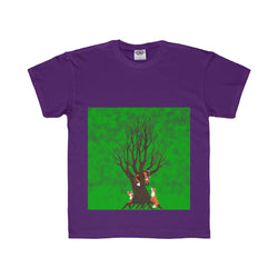 Forest Foxes - Youth Regular Fit Tee Printify - Natural Lynx