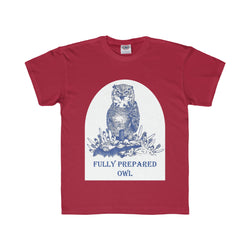 Fully Prepared Owl - Youth Regular Fit Tee Printify - Natural Lynx