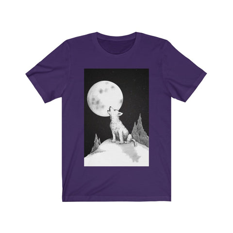 Lil' Howlin Wolf by Zan - Comfort Tee - Unisex Printify - Natural Lynx