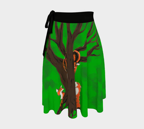 Fox Tree Wrap Skirt by Zan Natural Lynx - Natural Lynx