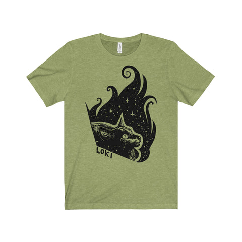 Loki the Cat Unisex Tee Printify - Natural Lynx