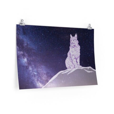 Surveyor of Dreams Lynx - Premium Matte horizontal print Printify - Natural Lynx