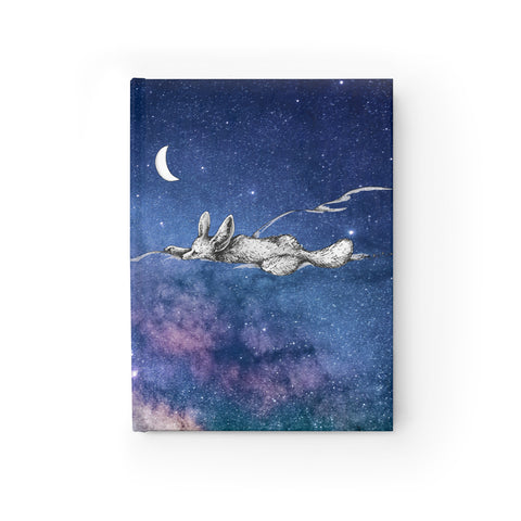 Sky Dream of the Fennec Fox - Art by Zan - Journal - Ruled Line Printify - Natural Lynx