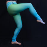 Greens and Blues Yoga Pants Natural Lynx - Natural Lynx