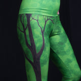 Forest Foxes Yoga Leggings by Zan Natural Lynx - Natural Lynx