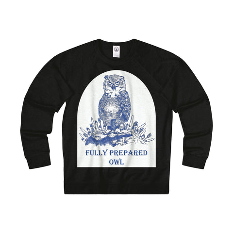 Fully Prepared Owl Terry Sweatshirt Printify - Natural Lynx