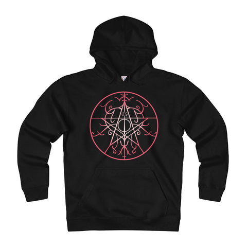 Sigil of Protection Adult Unisex Heavyweight Fleece Hoodie Printify - Natural Lynx