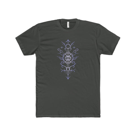 Sigil of the Open Way Men's Premium Fit Crew T-Shirt Printify - Natural Lynx