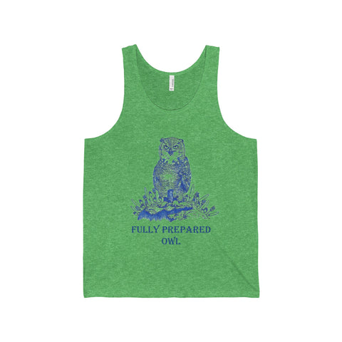 Fully Prepared Owl Tank Top Printify - Natural Lynx