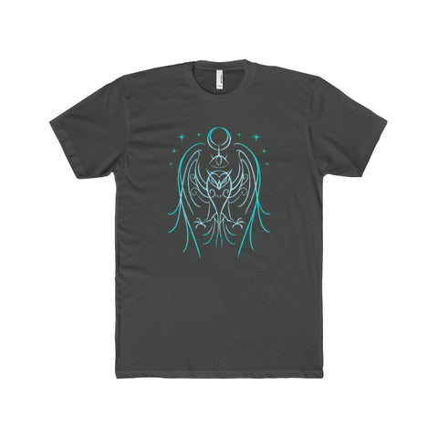 Glyph of the Owl Men's Premium Fit Crew T-Shirt Printify - Natural Lynx