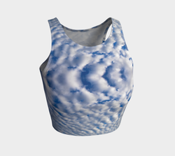 Fluffy Clouds Sky Athletic Crop Top Natural Lynx - Natural Lynx