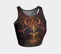 Fire Spirit Crop Top Natural Lynx - Natural Lynx