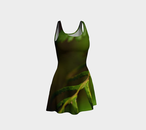 Fern Delight Flare Dress Natural Lynx - Natural Lynx