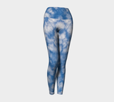 Fluffy Clouds Sky Yoga Leggings Natural Lynx - Natural Lynx