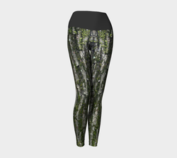 Bark Wrapped Yoga Leggings Natural Lynx - Natural Lynx