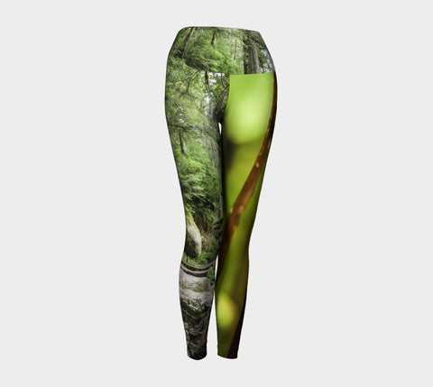 Of Fern And Forest Yoga Leggings Natural Lynx - Natural Lynx