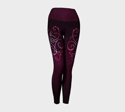 Sigil of Self Love Yoga Leggings Natural Lynx - Natural Lynx