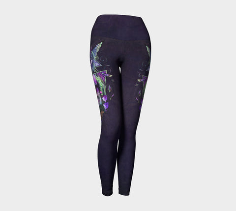 Eye of the Mystic Yoga Leggings Natural Lynx - Natural Lynx
