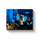 Fairy Kittens and Blue Dreams - Art on Stretched Canvas Natural Lynx - Natural Lynx