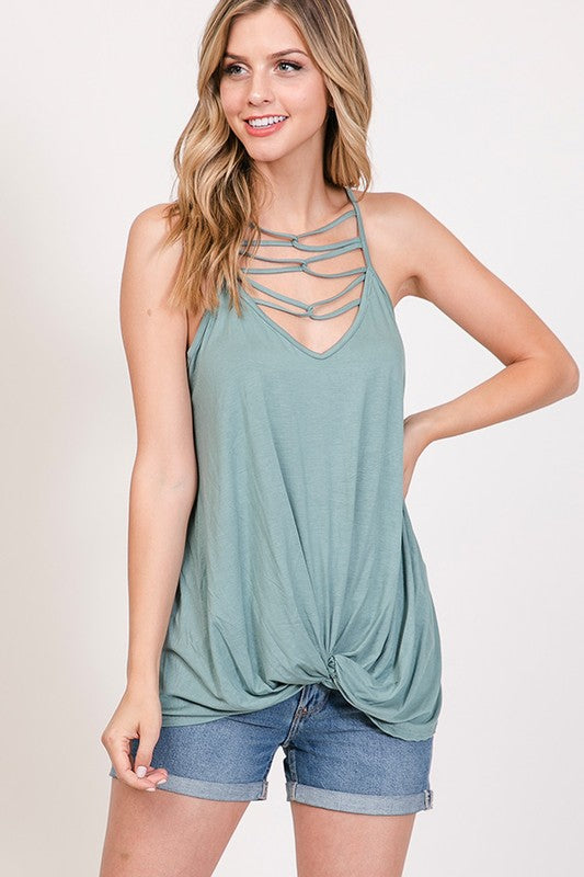 Quinn Top {sage or heather grey}