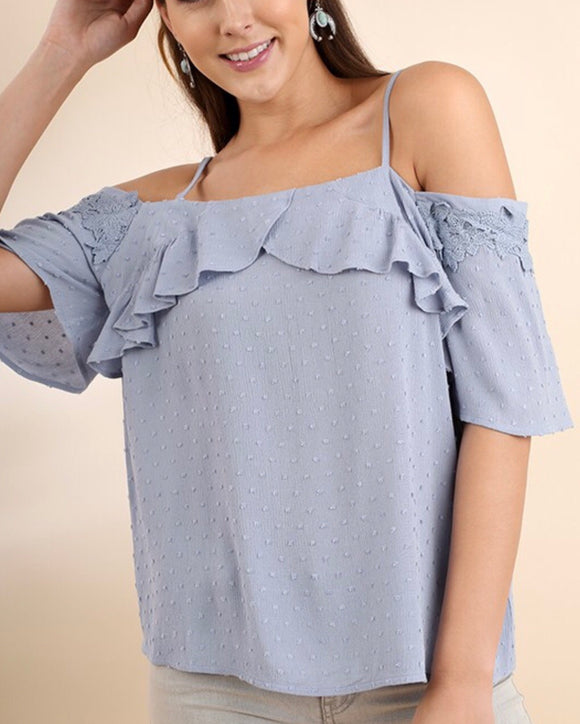Heather Top {misty blue}