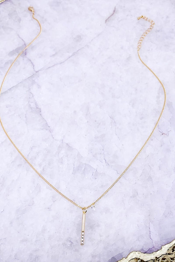 Bar Necklace {silver or gold}