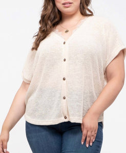 Natasha Top [plus] {cream}