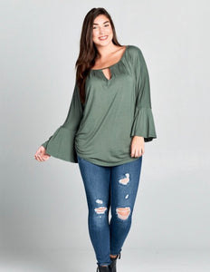 Laura Top- Plus {olive/green}
