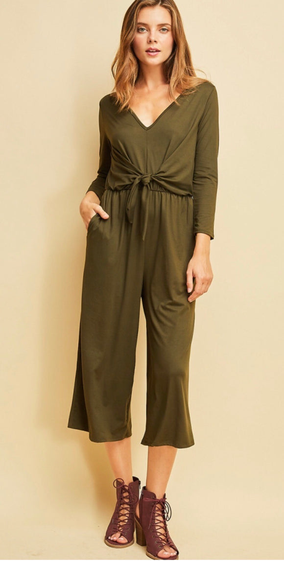 Ophelia Jumpsuit {olive green}