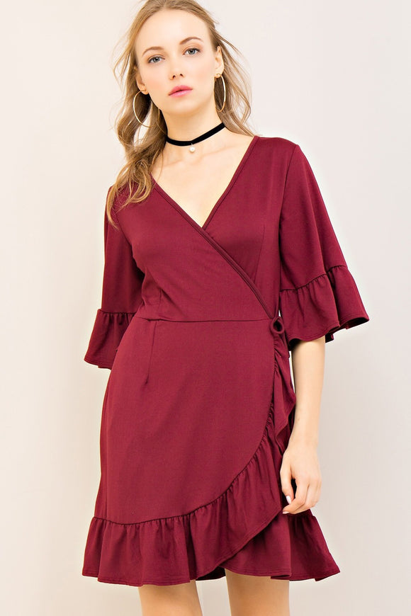 Jennifer Dress {wine}