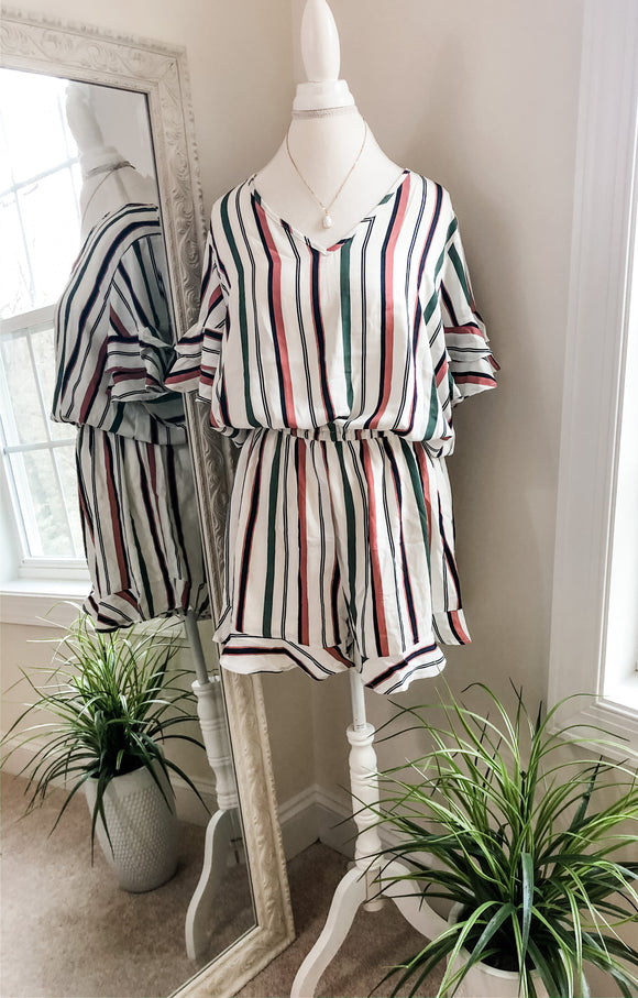 Mariel Romper [plus] {off white}