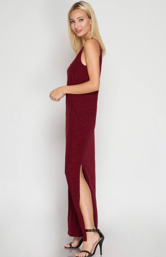 Jessica Dress {wine/red/glitter}