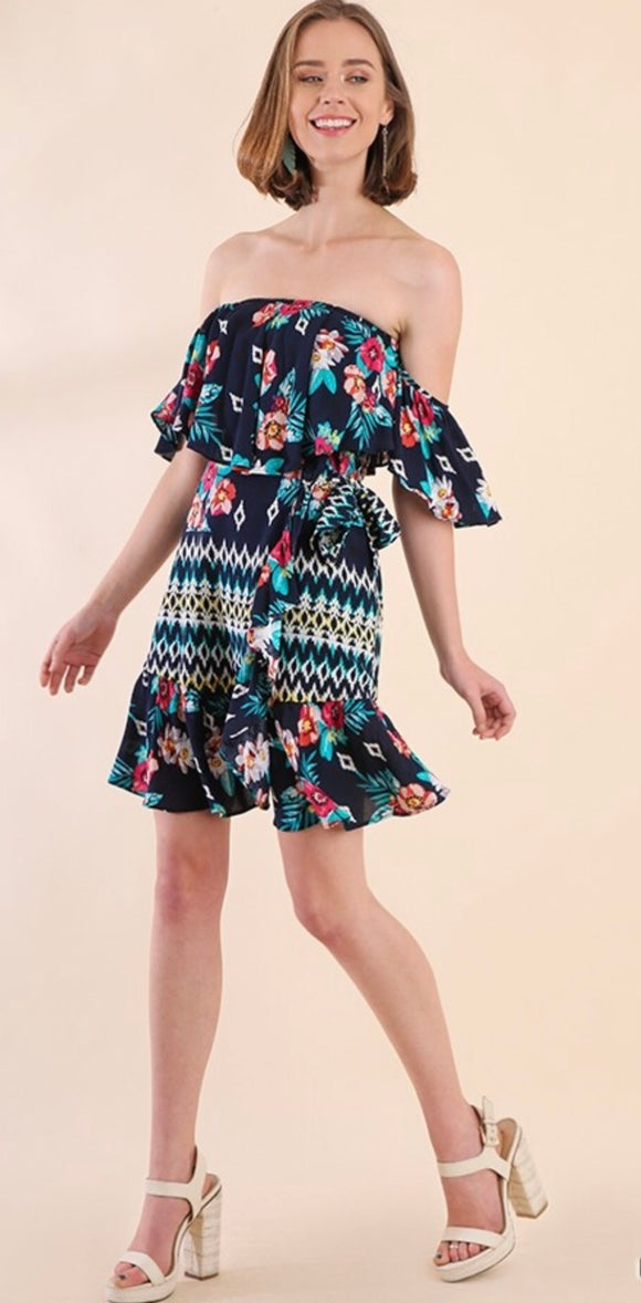Vanesa Dress {navy/floral}