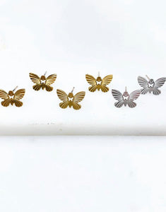 Dainty Butterfly Earrings {silver or gold}