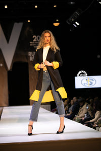 Black + Yellow Extended Duster