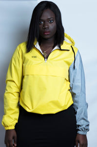 Reflective Sleeve Yellow Windbreaker
