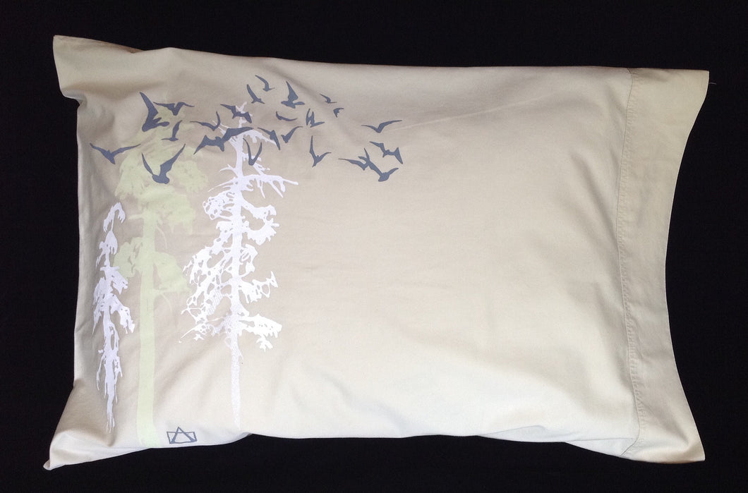 Night-Glow upcycled queen pillowcase